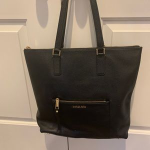 Michael Kors New Black ALL Leather Ariana Tote